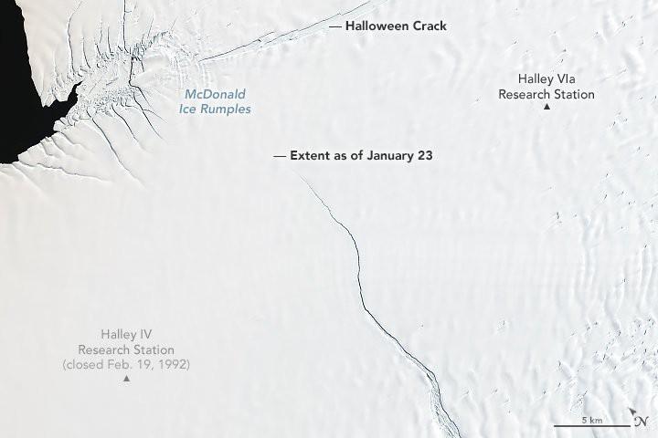 Nam Cực chuẩn bị đẻ cho nhân loại một đứa con to gấp đôi cả thành phố New York - Ảnh 2.