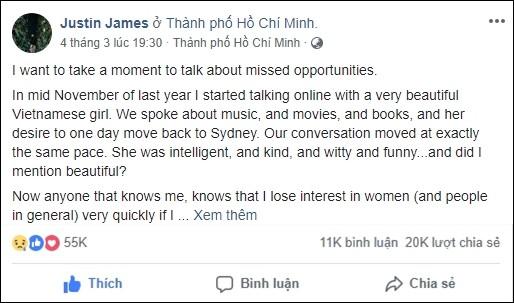 Tâm thư chàng trai Mỹ viết cho cô gái Việt qua đời vì tai nạn giao thông: Mọi điều trên đời có thể sai nhưng chắc chắn việc tôi thích em là đúng - Ảnh 1.