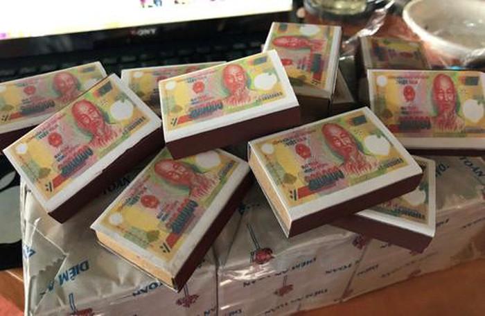 'Diêm Đồng Nai' in hình ảnh tờ tiền 200 ngàn đồng trên vỏ hộp?