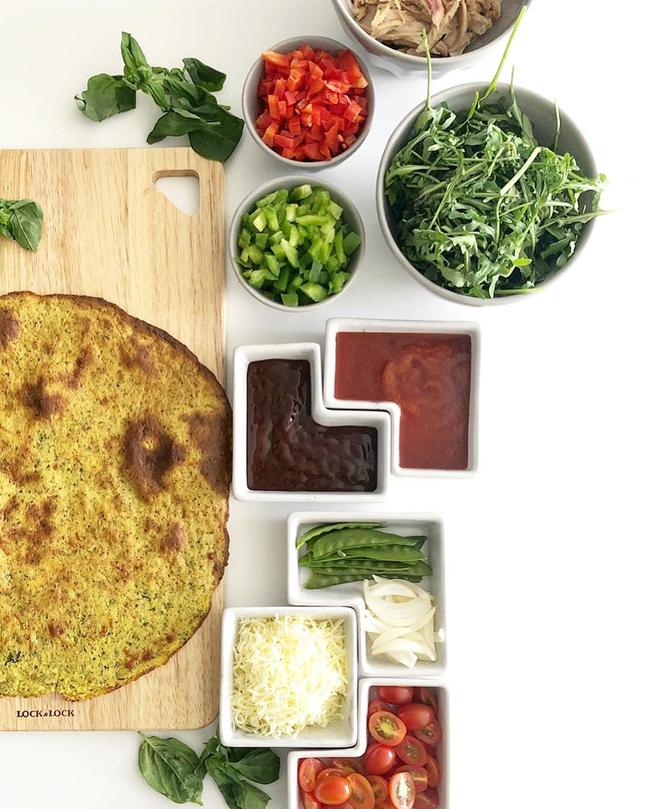 Học Lilly Nguyễn công thức làm pizza ăn kiêng từ khoai lang