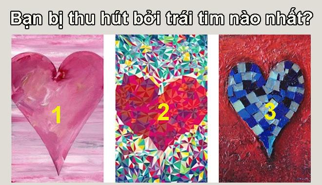 Chọn trái tim thu hút nhất sẽ phơi bày chuyện yêu đương của chính bạn