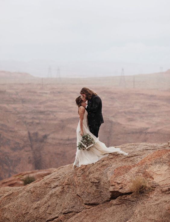 Dress by Leanne Marshall. Bride: India Earl -Horseshoe Bend Elopement