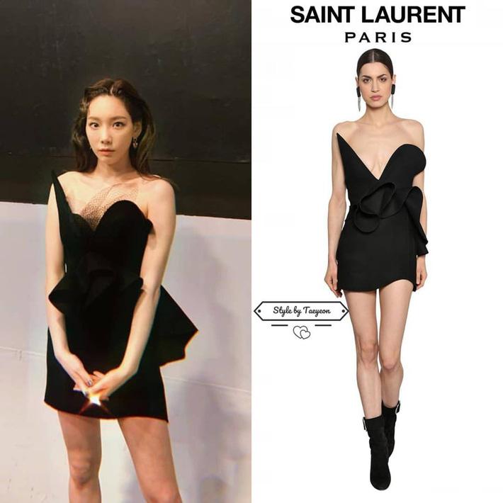 Nhờ thêm đúng 1 mảnh vải lưới vào váy, Taeyeon trông vừa đỡ hớ hênh vừa sang hơn hẳn người mẫu chuyên nghiệp - Ảnh 2.