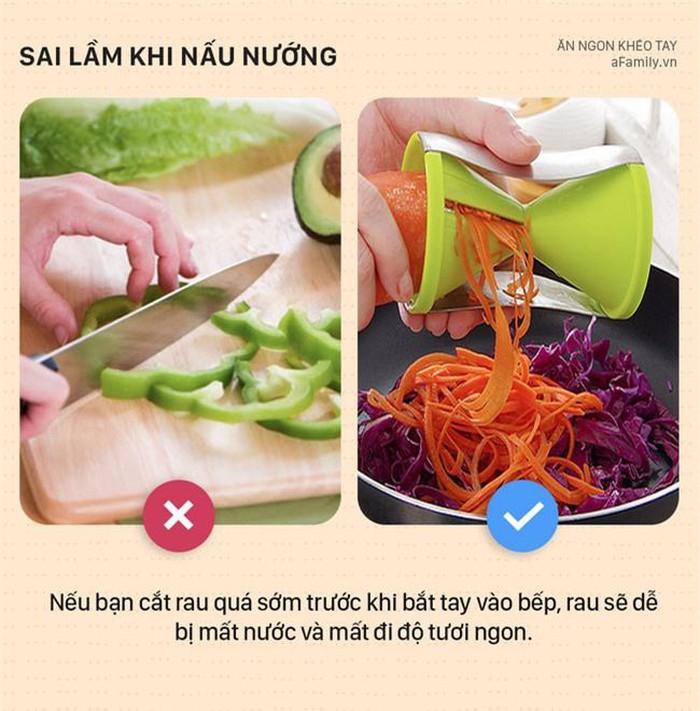 6 lỗi nấu ăn ai cũng từng gặp mà không hề hay biết