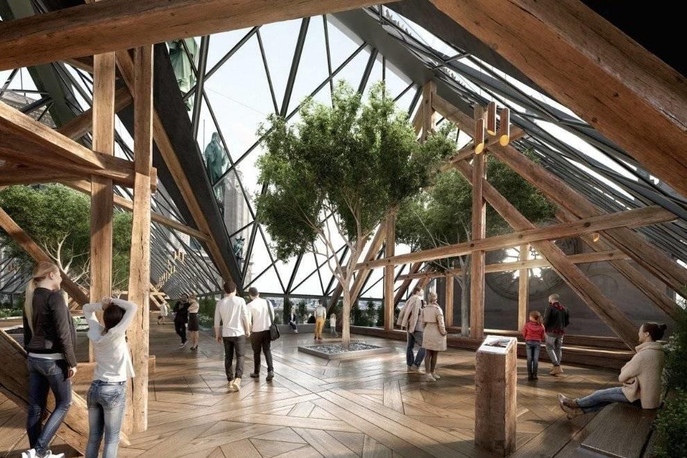 """Một nhà thiết kế mạnh dạn đề xuất biến Nhà thờ Đức Bà Paris thành """"Khu vườn trên mây"""", phần mái có thể trồng tới 21 tấn rau củ - Ảnh 3."""