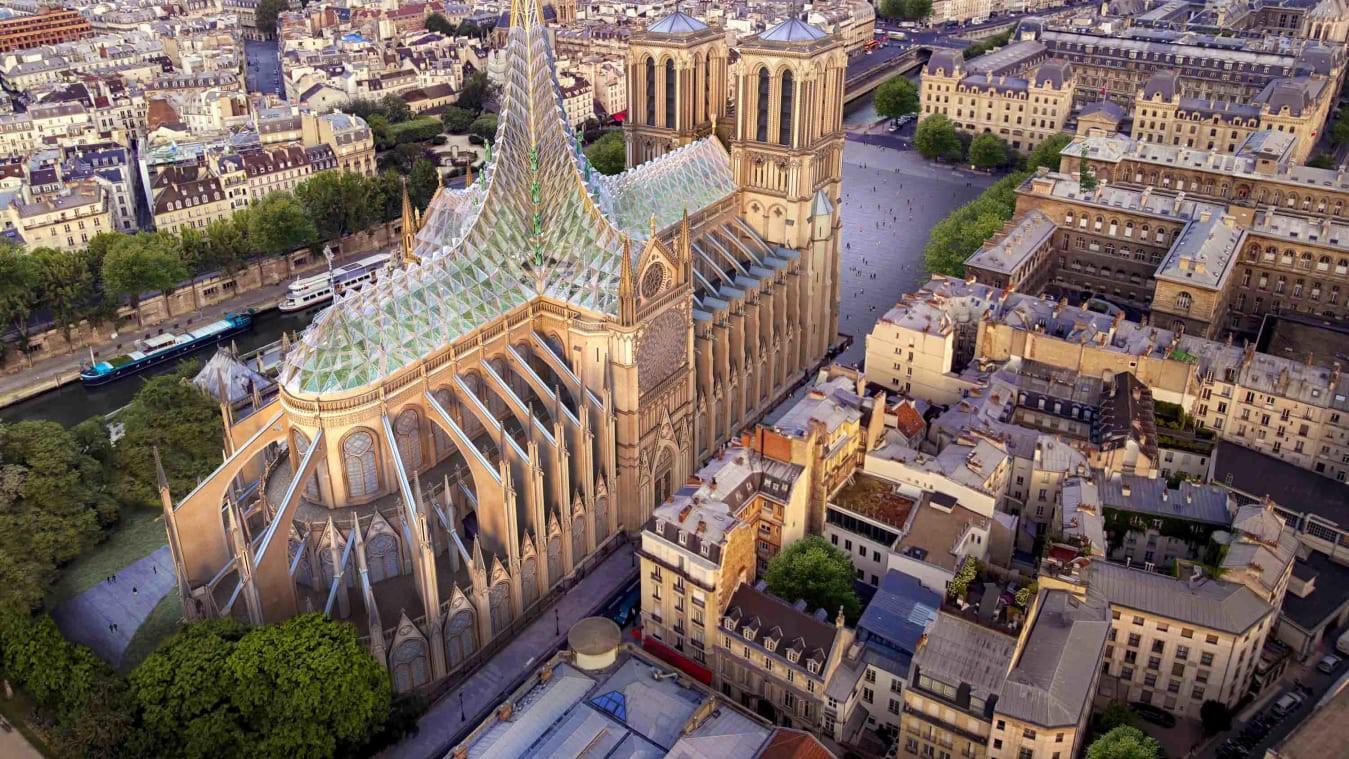 """Một nhà thiết kế mạnh dạn đề xuất biến Nhà thờ Đức Bà Paris thành """"Khu vườn trên mây"""", phần mái có thể trồng tới 21 tấn rau củ - Ảnh 4."""