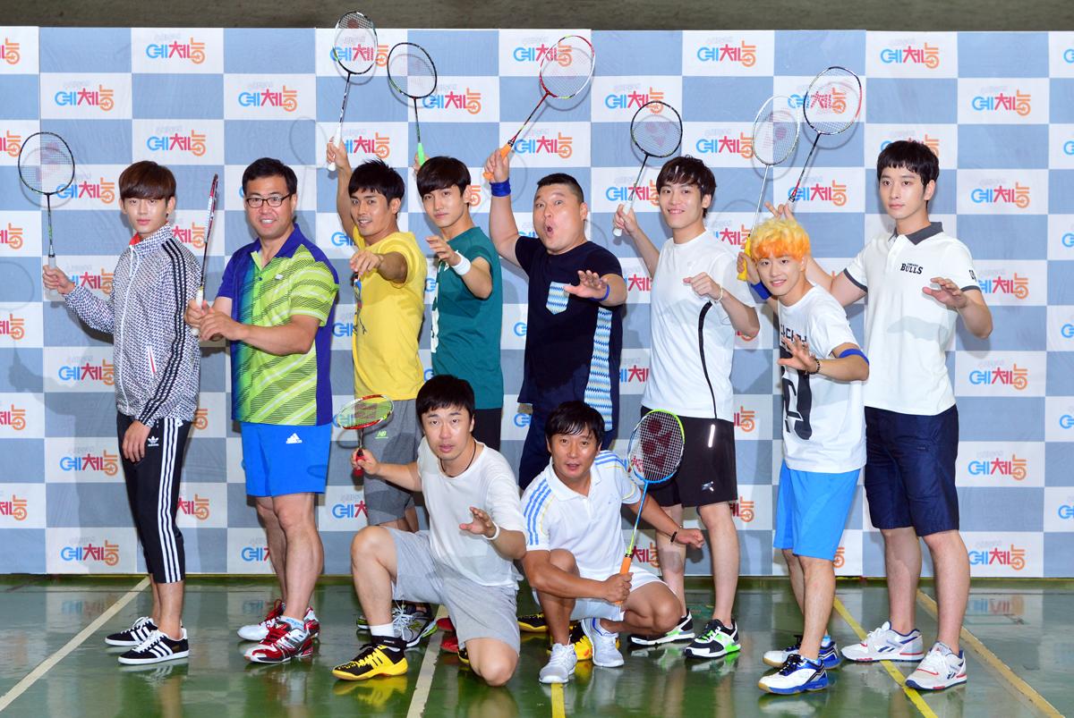 các nghệ sĩ cùng giương vợt cầu lông trong chương trình thực tế Cool Kiz On The Block