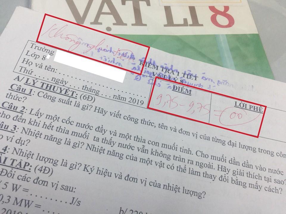 Ảnh 1: Bài kiểm tra quên không ghi tên - We25.vn