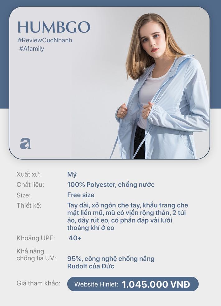 Review nhanh 10 mẫu áo chống nắng: Giá từ 350k đến cả triệu thì đều có khả năng ngăn tia UV ngang ngửa nhau - Ảnh 10.