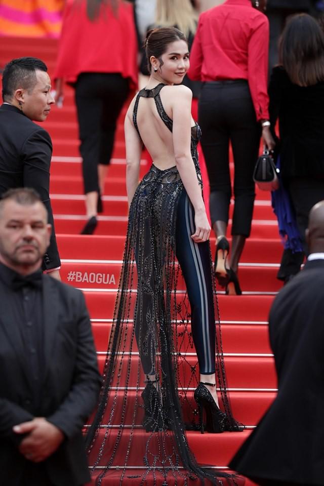 Ngọc Trinh ở Cannes mặc đồ lồ lộ quá, cư dân mạng đã nhanh chóng tân trang giải cứu ngay rồi đây - Ảnh 2.