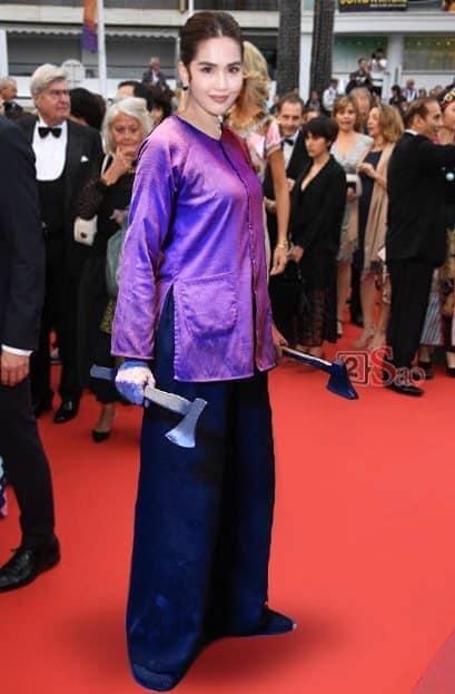 Ngọc Trinh ở Cannes mặc đồ lồ lộ quá, cư dân mạng đã nhanh chóng tân trang giải cứu ngay rồi đây - Ảnh 9.