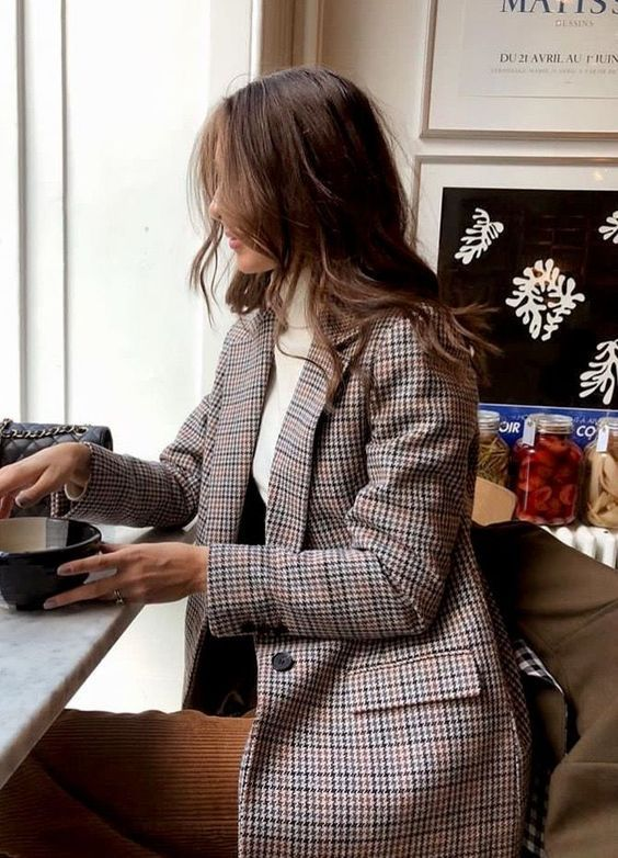 Blazer | tweed | print | turtleneck | classy | style | ootd | what to wear | work outfit