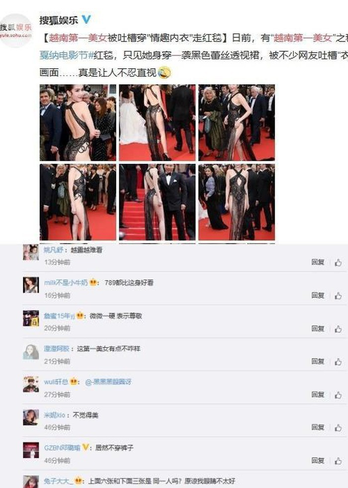 Truyền thông và netizen nước ngoài phản ứng gay gắt về Ngọc Trinh tại Cannes: Báo Anh, Pháp không gắt bằng xứ Trung - Ảnh 6.
