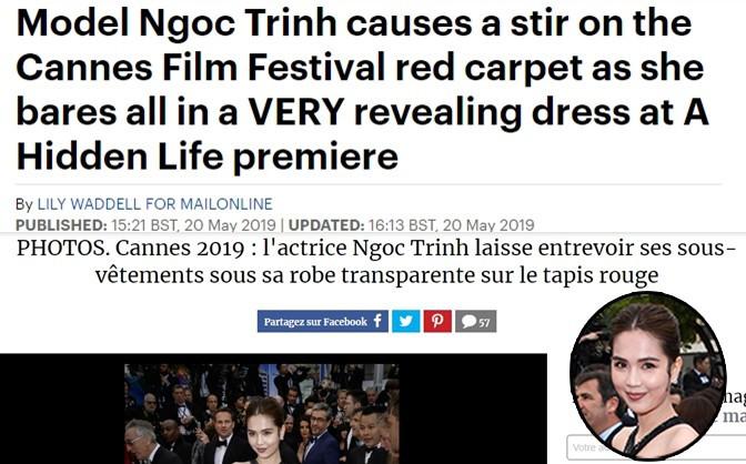 Truyền thông và netizen nước ngoài phản ứng gay gắt về Ngọc Trinh tại Cannes: Báo Anh, Pháp không gắt bằng xứ Trung - Ảnh 4.