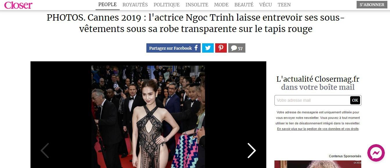 Truyền thông và netizen nước ngoài phản ứng gay gắt về Ngọc Trinh tại Cannes: Báo Anh, Pháp không gắt bằng xứ Trung - Ảnh 2.