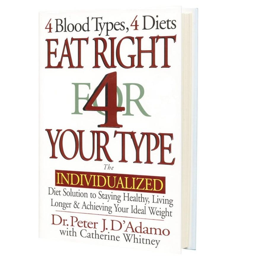 chế độ ăn - cuốn sách eat 4 your type 1