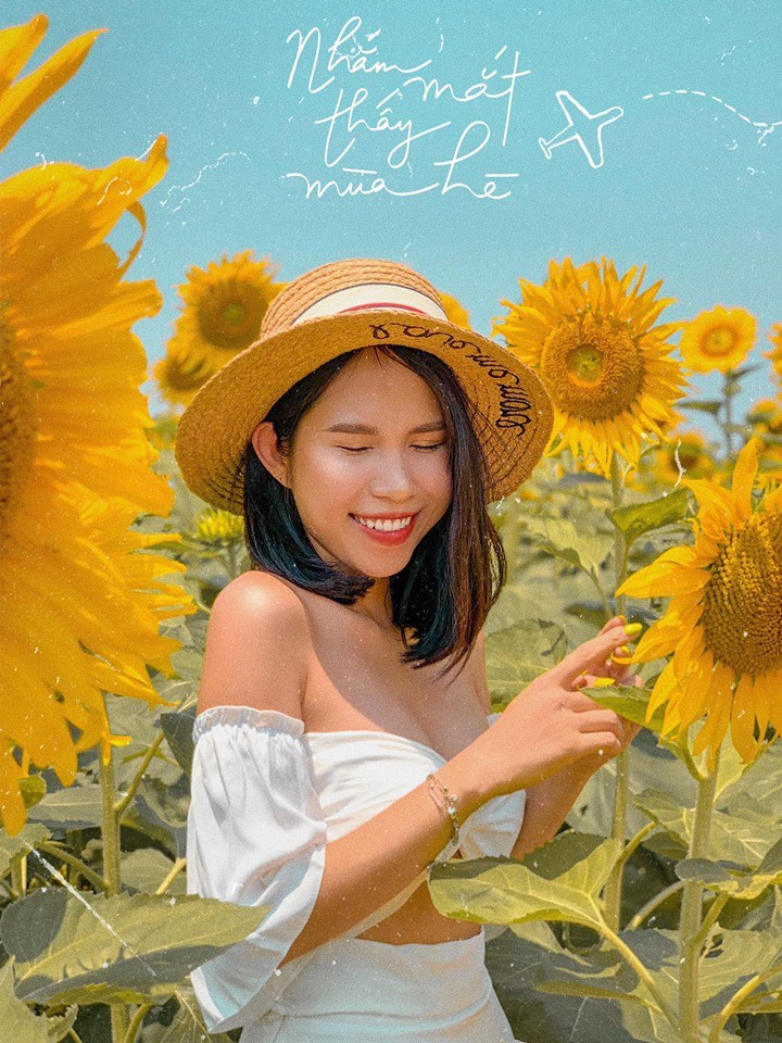 """Lướt mỏi tay loạt ảnh check-in """"thật là vàng tươi"""" của giới trẻ ở vườn hoa hướng dương mới xuất hiện ngay gần Hà Nội, không đi nhanh kẻo phí cả mùa hè - Ảnh 8."""