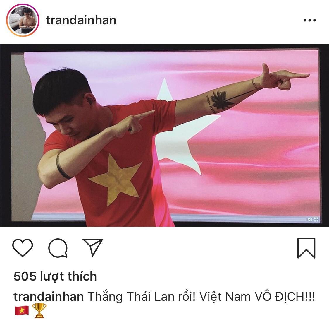 Sao Vbiz vỡ oà khi Văn Đức ghi bàn phút chót, tuyển Việt Nam hạ Thái Lan ngoạn mục vào chung kết Kings Cup - Ảnh 4.