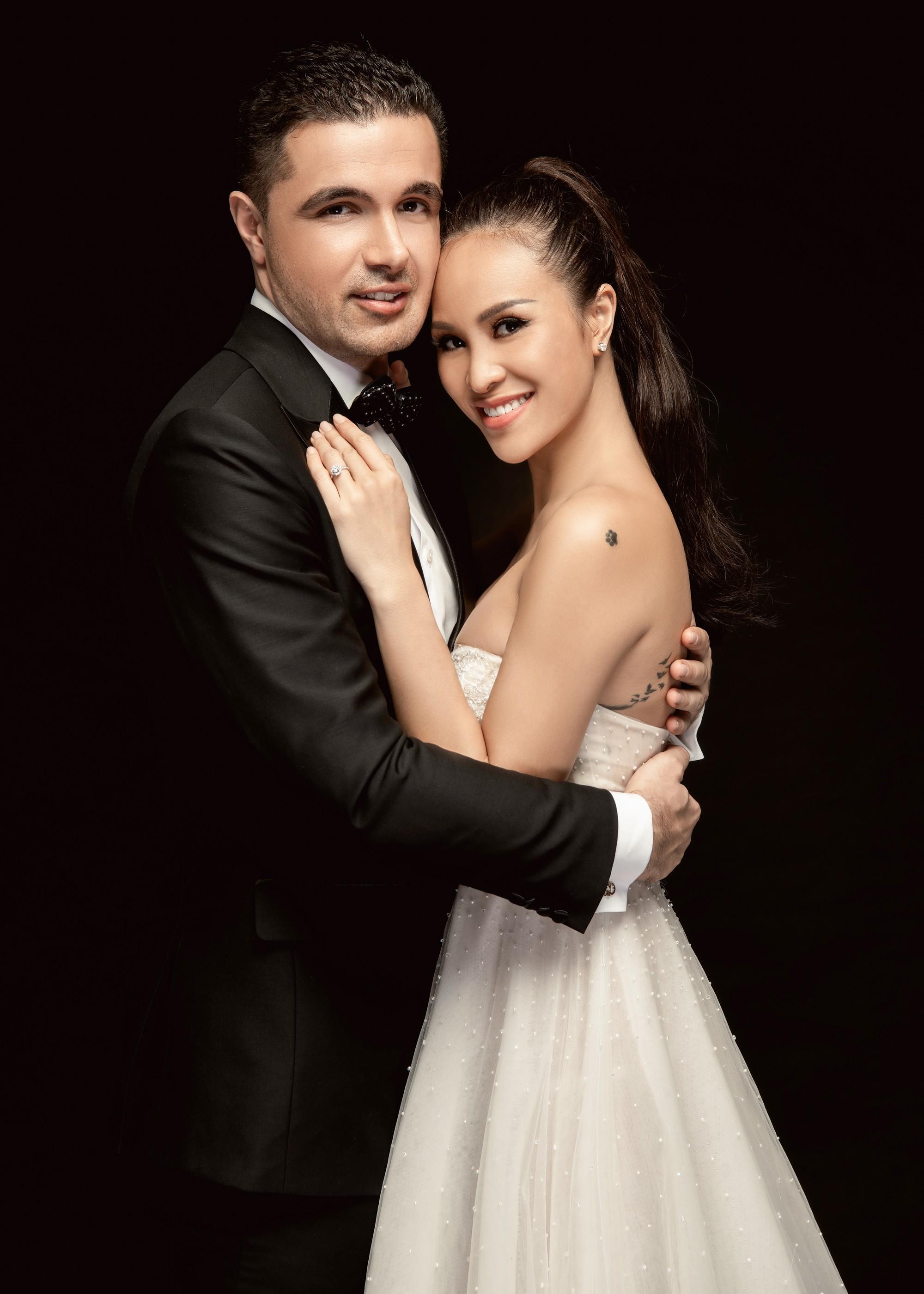 Siêu mẫu Phương Mai khoá môi ông xã Tây cực ngọt ngào trong bộ ảnh cưới trước ngày lên xe hoa - Ảnh 5.