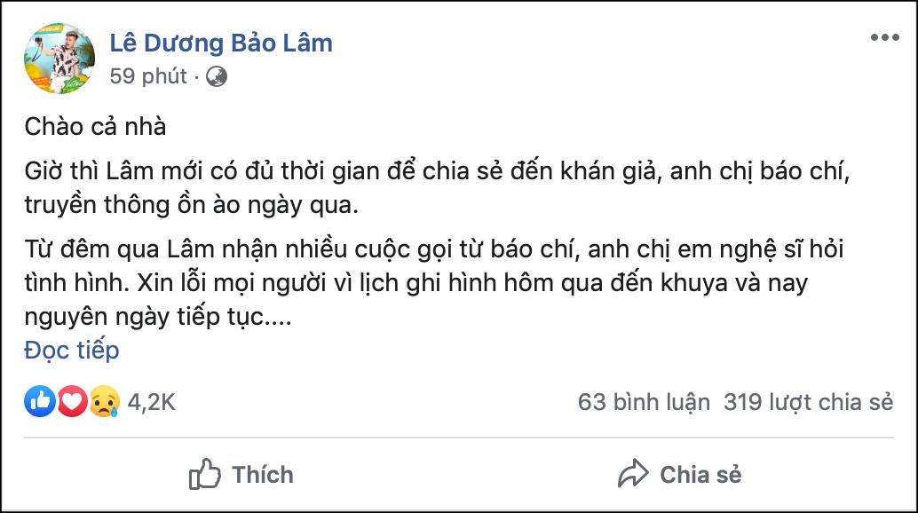 Lê Dương Bảo Lâm lên tiếng sau vụ việc bị đánh khi phát cơm từ thiện: Lâm không dại dột đem lòng tự trọng của mình ra, để dàn cảnh - Ảnh 2.