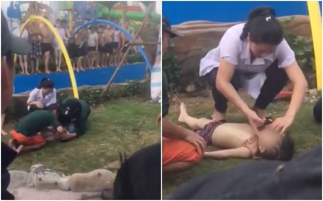 Nóng: Một bé trai bị đuối nước tại Công viên nước Thanh Hà, chỉ 3 ngày sau khi khu vui chơi khai trương - Ảnh 2.