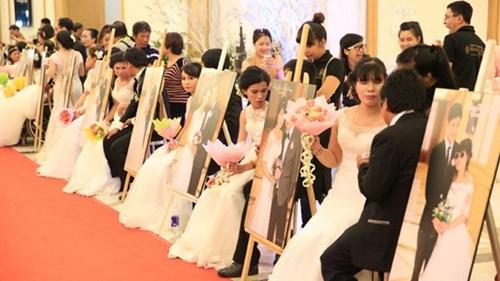 Image result for Lễ cưới tập thể