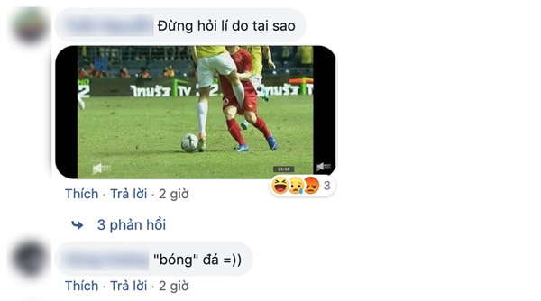 Cú sút của một cầu thủ Thái Lan vào chỗ hiểm của Công Phượng bị dân mạng mang ra đùa giỡn.
