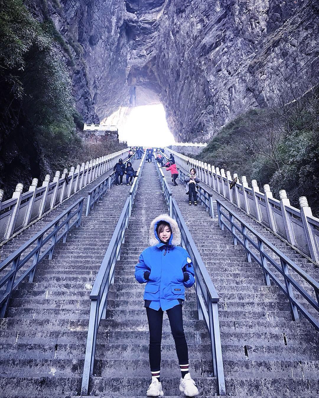Thiên Môn Sơn - Đường lên cổng trời ở Trung Quốc khiến hội yếu tim phải khóc thét với 99 khúc cua dựng đứng - Ảnh 5.