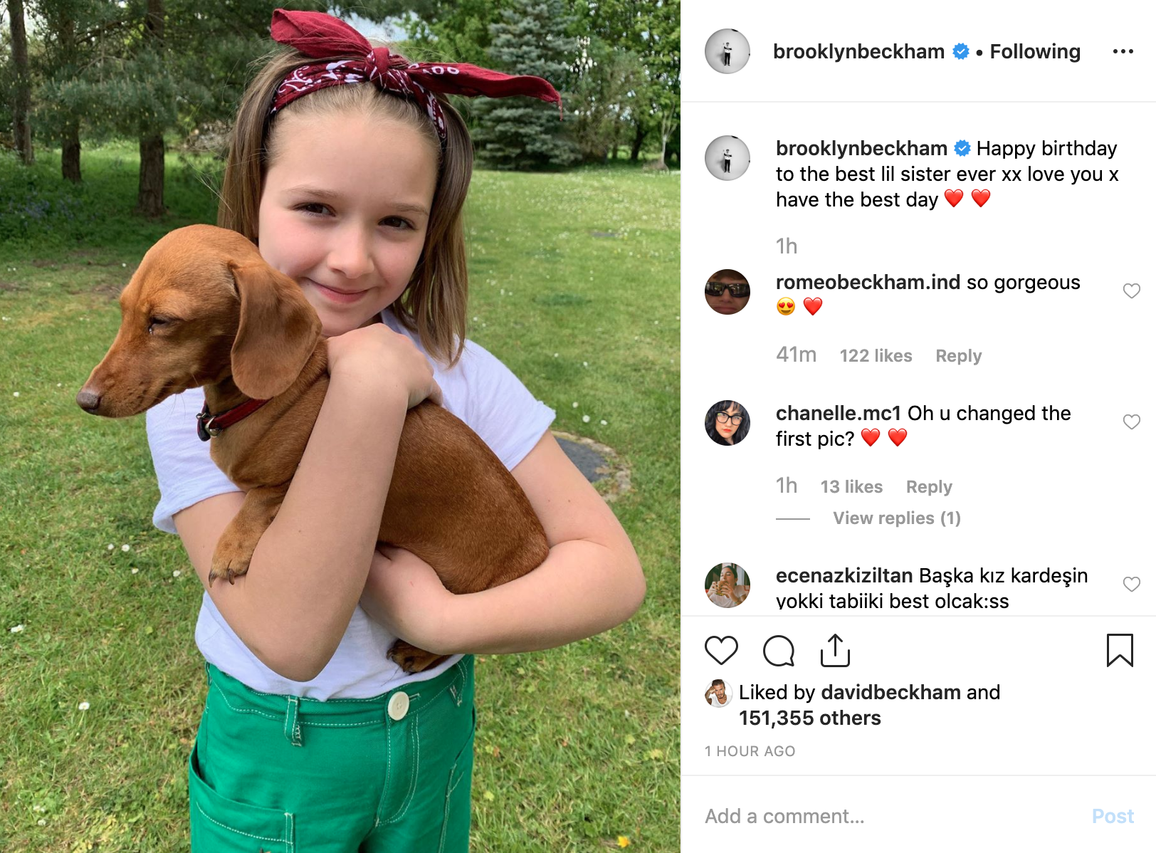 Cả nhà Beckham đăng ảnh chúc mừng sinh nhật Harper 8 tuổi, nhan sắc rực rỡ đáng yêu của cô bé gây chú ý - Ảnh 3.