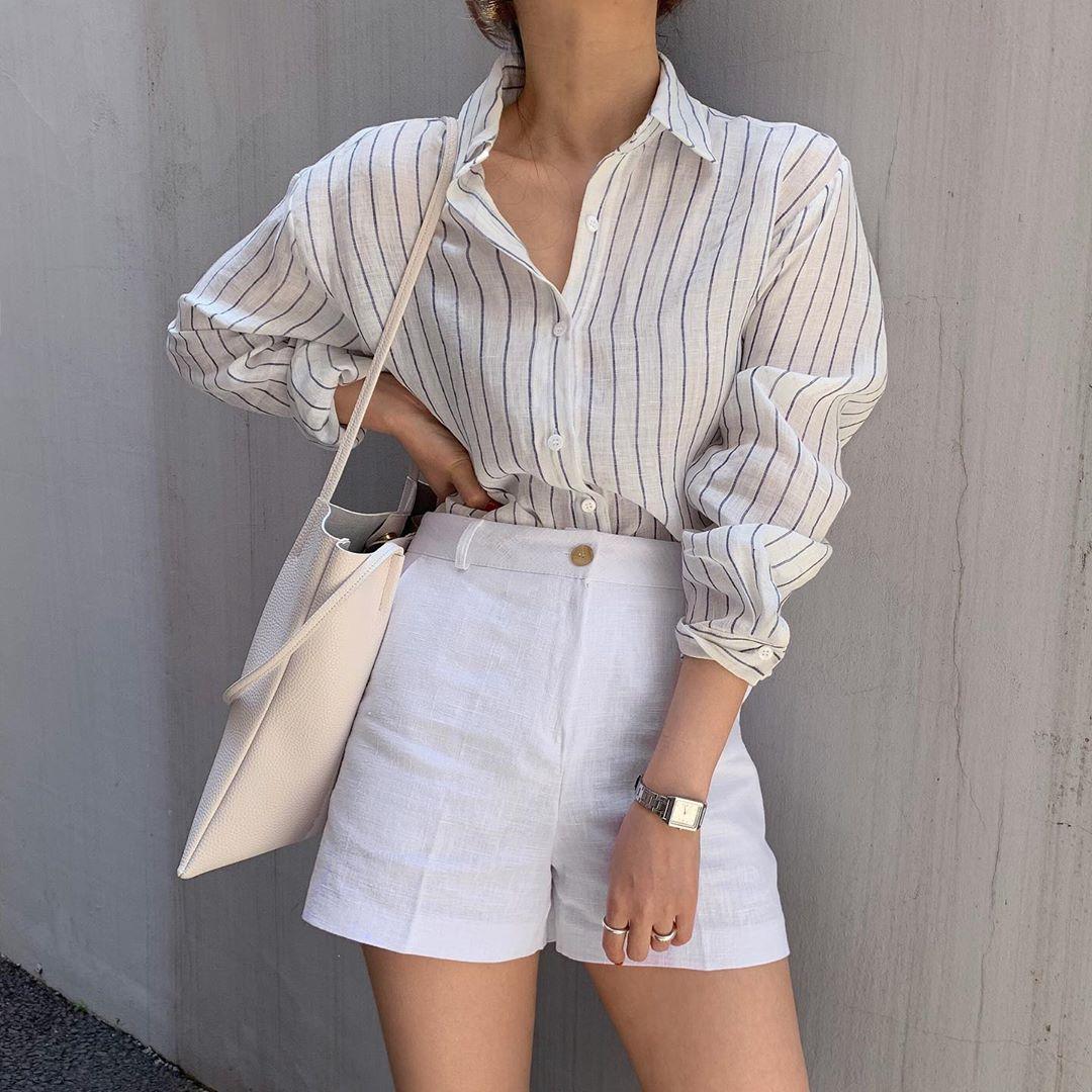 Phối quần shorts theo phong cách smart casual - chiếc quần có độ dài phù hợp