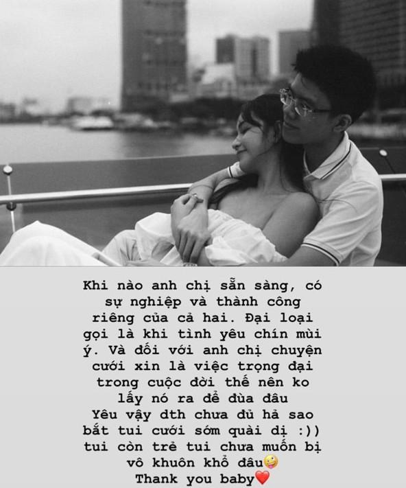 Yêu thiếu gia nhà chẳng có gì ngoài tiền nhưng câu trả lời của bạn gái Phan Hoàng về chuyện kết hôn khiến ai cũng suy ngẫm - Ảnh 3.