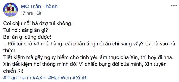 Mệt thay cho nhà Trấn Thành - Hari Won: Vợ thắt chặt chi tiêu, chồng quyết tâm tuyên chiến vì chiếc bụng đói! - Ảnh 1.