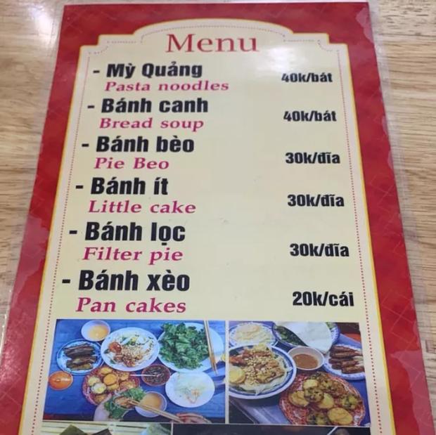 Cười rơi mồm với menu tiếng Anh bá đạo made by chị Google, 99% không biết nem is gone là món gì - Ảnh 1.
