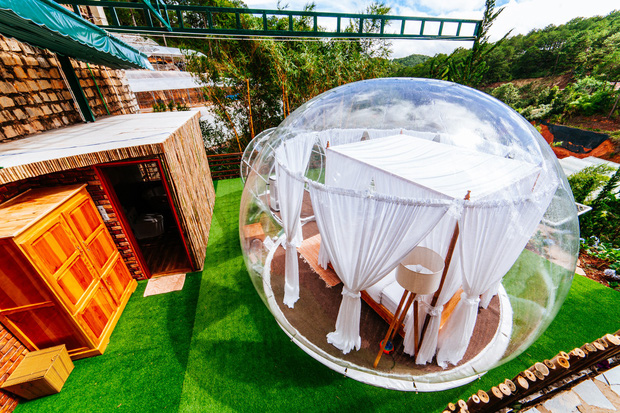 HOT: Đà Lạt lộ diện căn phòng bong bóng y hệt Bali khiến dân mạng người khen kẻ chê, đại diện resort nói gì? - Ảnh 8.