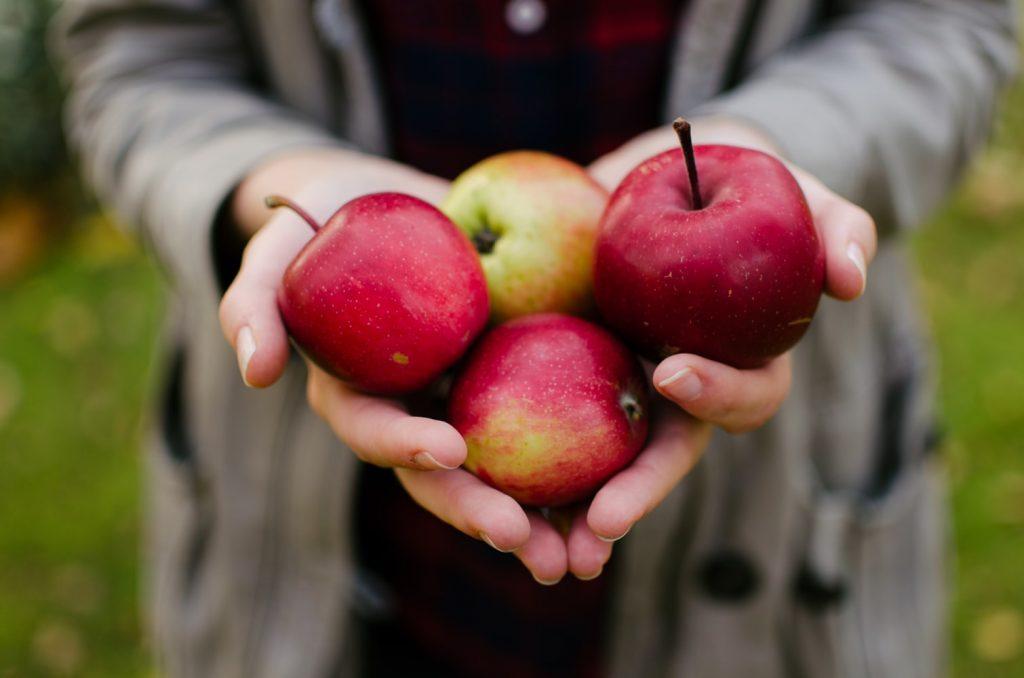 chăm sóc răng miệng - quả táo