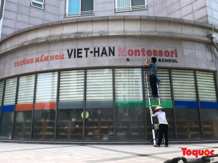 Hà Nội: Mập mờ cách đặt tên, cơ sở mầm non ở quận Hà Đông bỗng xóa mác quốc tế trên biển hiệu