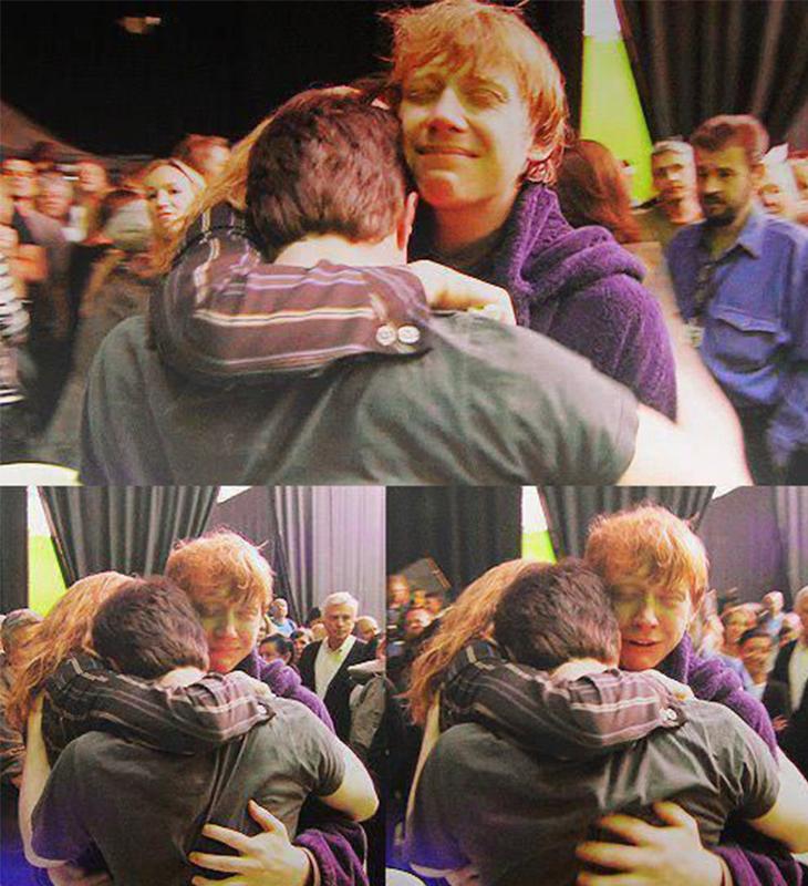 Dàn sao Harry Potter khóc trong ngày cuối quay phim