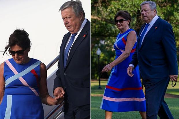 Tổng thống Trump nắm tay vợ đầy tình cảm sau kì nghỉ hè nhưng cậu út Barron lại chiếm spotlight với ngoại hình khác lạ - Ảnh 9.