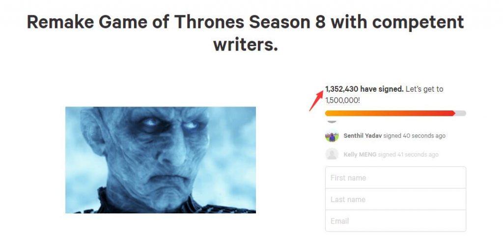 Ký tên kiến nghị làm lại Game of Thrones phần cuối