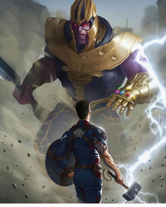 Captain America Vs Thanos.