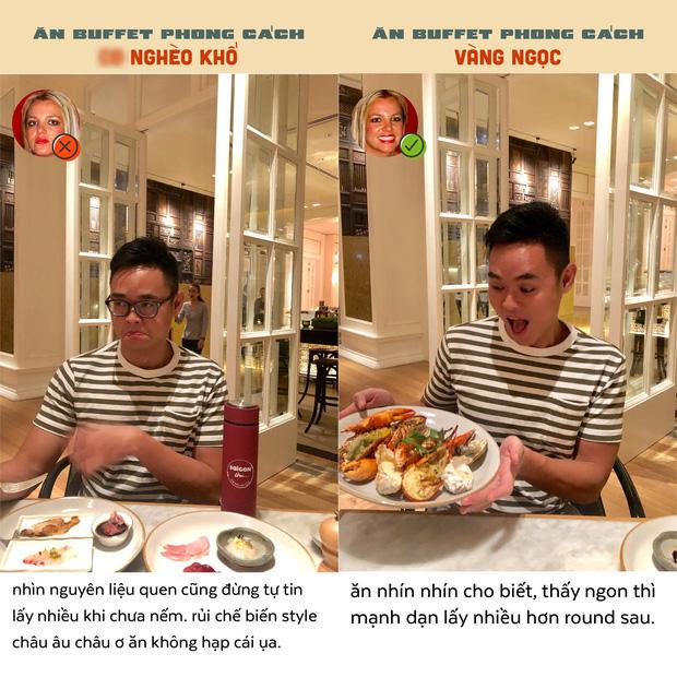 Chết cười với bộ ảnh ăn buffet phong cách vàng ngọc của Tạ Quốc Kỳ Nam, tưởng chỉ chọc cười nhưng nghĩ lại thấy đúng muôn phần - Ảnh 7.