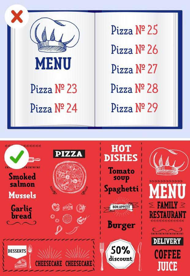 """6 """"cái bẫy"""" mà nhà hàng thường dùng để thực khách chi tiền nhiều hơn, dù khôn khéo thế nào thì ai cũng bị dính"""" ít nhất 1 lần - Ảnh 6."""