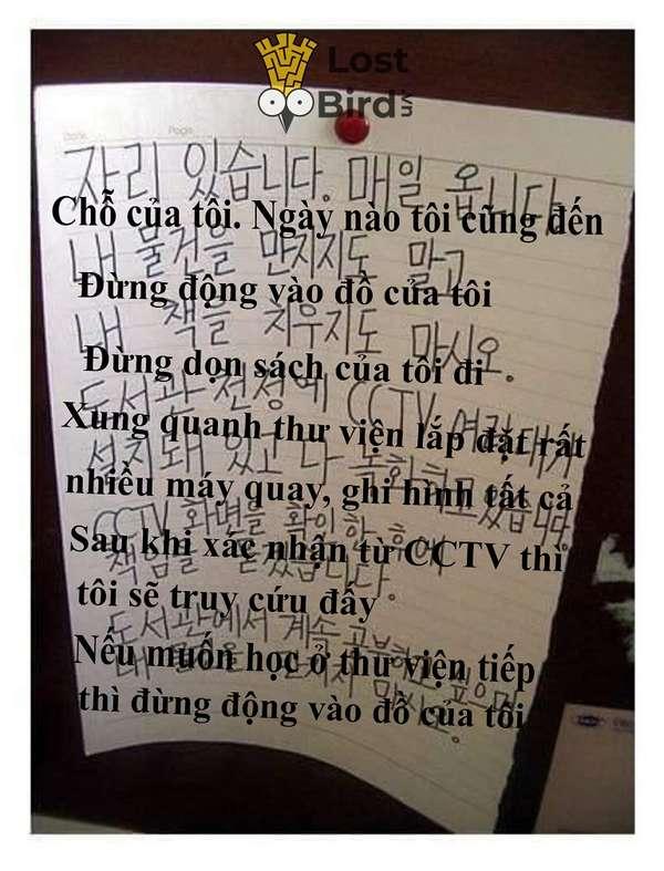 Tuyển tập những mẩu nhắn 'hết hồn hà' trong thư viện Hàn Quốc