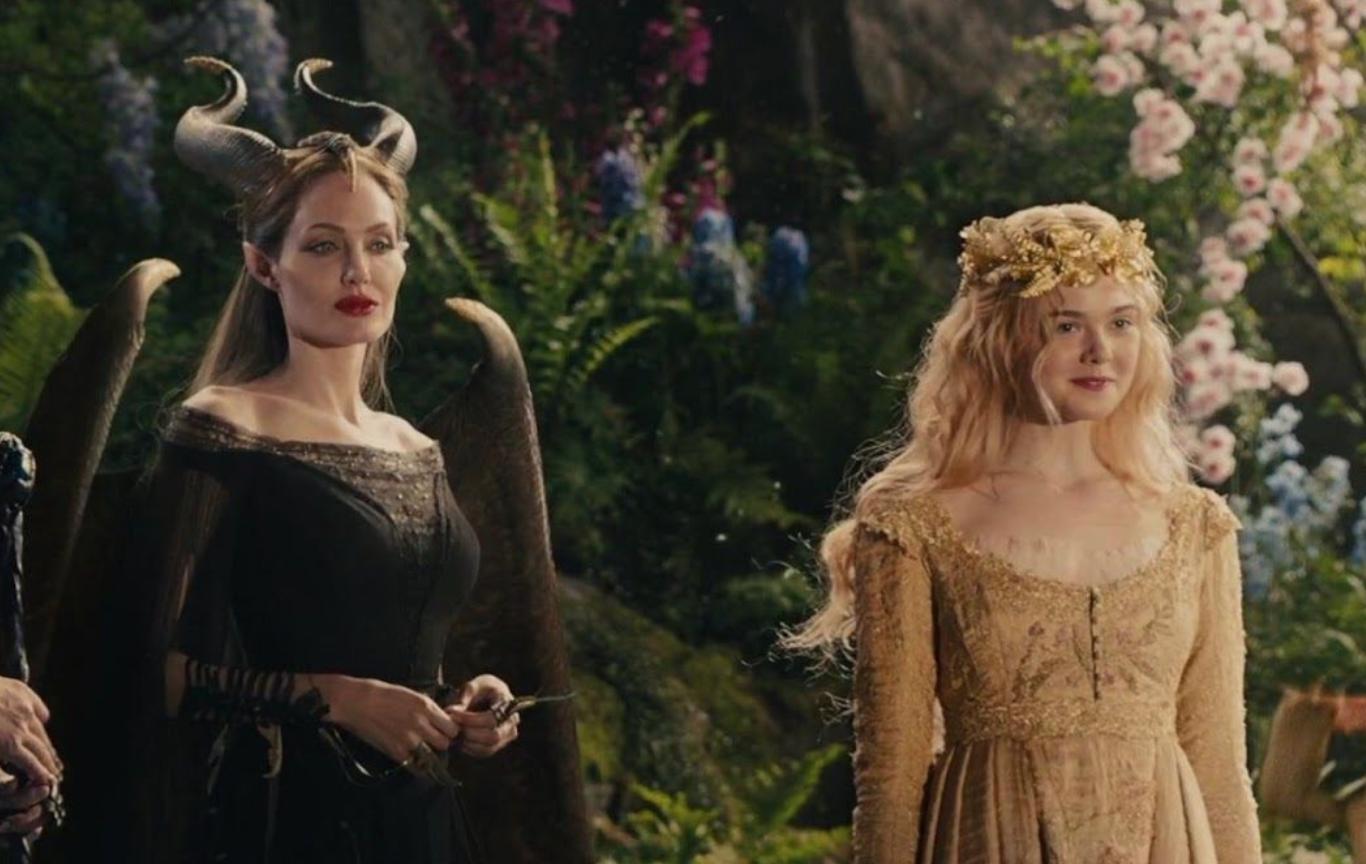Angelina Jolie và Elle Fanning trong Tiên hắc ám 2