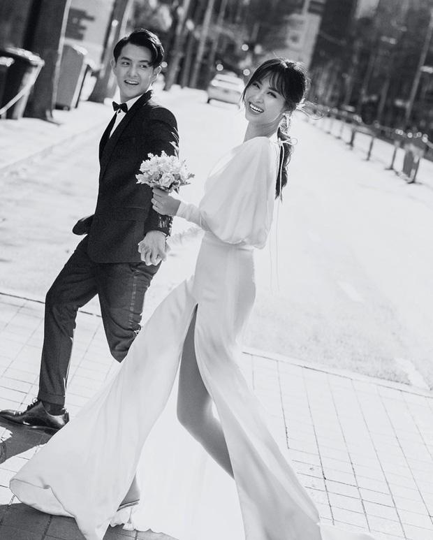 Nhìn Đông Nhi diện váy cưới, để tóc đơn giản mà vẫn xinh ngất, hẳn nàng nào cũng muốn làm bộ ảnh cưới xịn y chang - Ảnh 3.