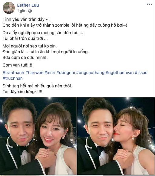 """Vừa """"tình chàng ý thiếp"""" hạnh phúc đi đám cưới Nhi - Thắng, Hari Won đã thông báo nguyên nhân khiến tình yêu với Trần Thành """"kết thúc"""" - Ảnh 1."""