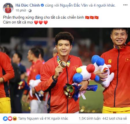 Việt Nam vô địch Sea Games 30, dàn cầu thủ viết nên lịch sử bóng đá nước nhà đã kịp chia sẻ lời cảm ơn đầu tiên sau trận chung kết - Ảnh 3.