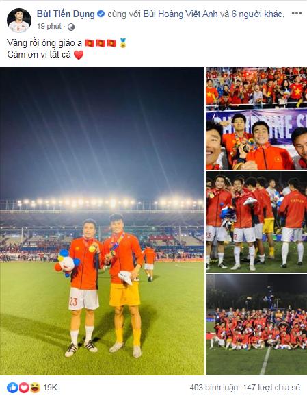 Việt Nam vô địch Sea Games 30, dàn cầu thủ viết nên lịch sử bóng đá nước nhà đã kịp chia sẻ lời cảm ơn đầu tiên sau trận chung kết - Ảnh 9.