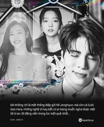 Tròn 2 năm Jonghyun ra đi: Chúng tôi yêu bạn không chỉ dành cho anh, Sulli, Goo Hara mà cả nghìn người kiệt quệ ngoài kia - Ảnh 4.