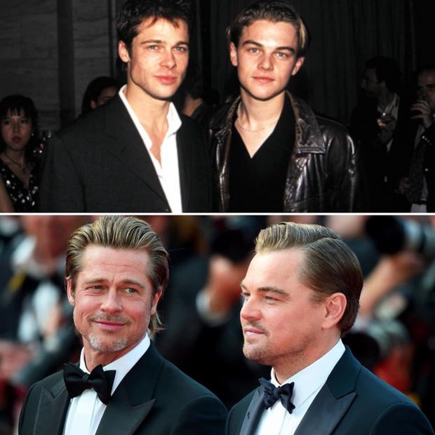 2 tài tử cực phẩm Brad Pitt và Leonardo chung khung hình sau 25 năm: Đúng là 2 người đàn ông quyến rũ nhất hành tinh! - Ảnh 1.
